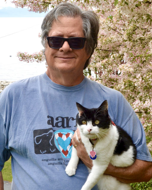Mark Baumwell the AARF Web Master and his cat Lindy